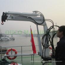 Protección contra sobrecarga telescópica hidráulica de la grúa del pescante marino