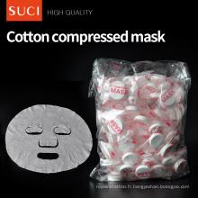 Masque cosmétique de blanchiment de feuille de comprimé de blanchiment de soin de peau de coton naturel pour le visage