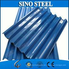Hoja de techo de acero corrugado galvanizado prepintado