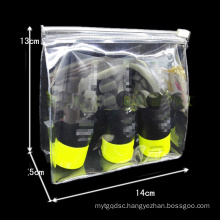 Wholesales Simple Clear PVC Zipper Cosmetic Bag 3sizes