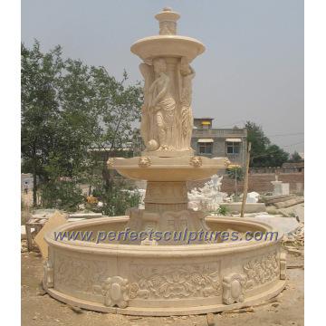 Fontaine d'eau de scène pour fontaine de marbre en pierre de jardin (SY-F178)
