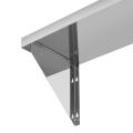 Prateleira de montagem de parede de aço inoxidável comercial de dois suportes