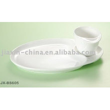 White color porcelain breakfast set JX-BS605