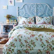 Красивая полиэстер печатных микрофибры ткань одеяло кровати комплект