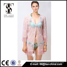 Top selling products 2016 Summer Ladies Tassels lace kimono coat Cardigan blouse                                                                         Quality Choice                                                     Most Popular