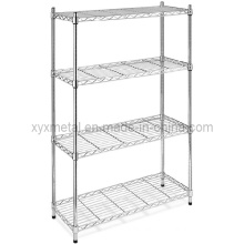 4 Tiers Chrome Shelving Stand Wire Mesh Shelf Rack