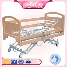 MDF extra low electric 5 functions nursing bed,4'' castors