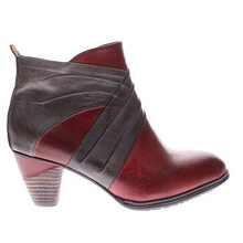 New Look Leather Ankle Boots with Two Tone Styling