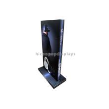 Merchandising Acabado cepillado Metal Countertop Comercial Deporte Auricular Pantalla de auriculares