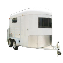 One single horse carriage trailer with over head rug tack