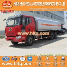 FAW 6x4 20CBM camion citerne en plastique à vendre, usine de porcelaine