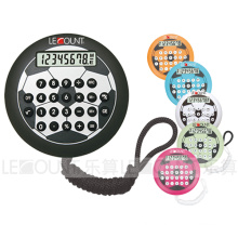 8 Digits Small Hamburger Shaped Calculator with Football Printing with Hanging Cord (LC540A)