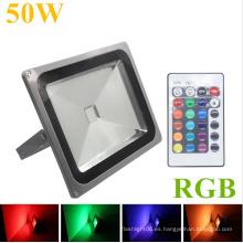 50W IP65 RGB controlador remoto LED al aire libre del reflector