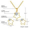 Bridal Gold Pendant Jewelry Sets for Wedding