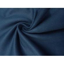 Revestimento de lã de Oxford / denim azul-lã