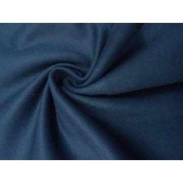 Lovely Oxford/Denim Blue Wool-Blend Melton Coating