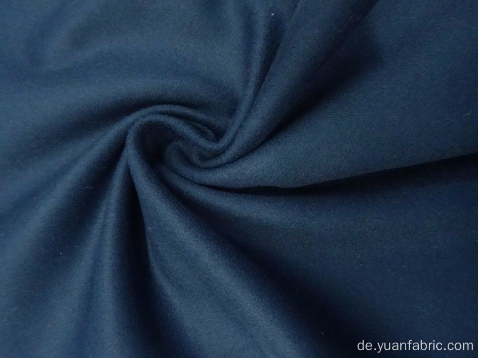 Schöne Oxford / Denim Blue Wollmischung Melton Coating