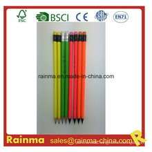 Neon Barrel Color Pencil in Black Wood