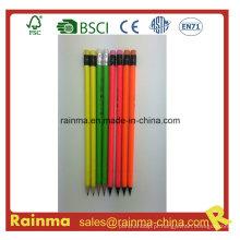 Neon Barrel Color Pencil em madeira preta