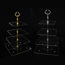 4-Layer Acryl Display Stand, Store Cake Display Rack