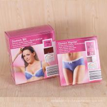 Caja de empaquetado de la ropa interior de la mujer atractiva material de papel de encargo de la fábrica