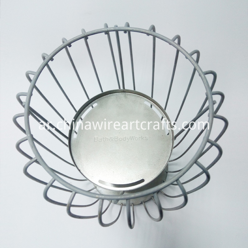 Metal Decorative Wire Candle Holder Stand