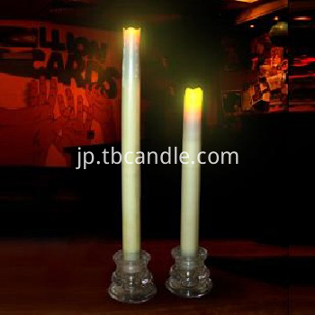 Flameless smooth LED taper candle