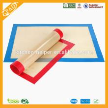 China Shenzhen Hersteller Lebensmittel Grade FDA Private Hitzebeständige Antihaft-Silikon Backmatte