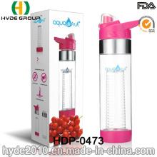2017 maßgeschneiderte neu 700ml BPA frei Kunststoff Obst Wasser Infusionsflasche, FDA Plastik-Wasserflasche (HDP-0473)