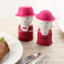 salt and pepper with silicone hat,wine red