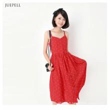 Belle Bretelles Girl Dress Sexy et charmant pour l'été 2016