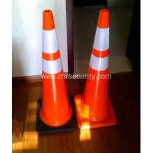 Manufacturer 28'' PVC Traffic Cone with Woven Bag Packing