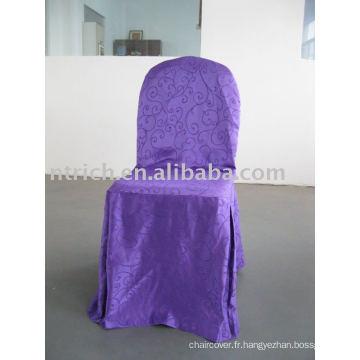 Housse de chaise Jacquard, couverture de chaise d'hôtel / banquet