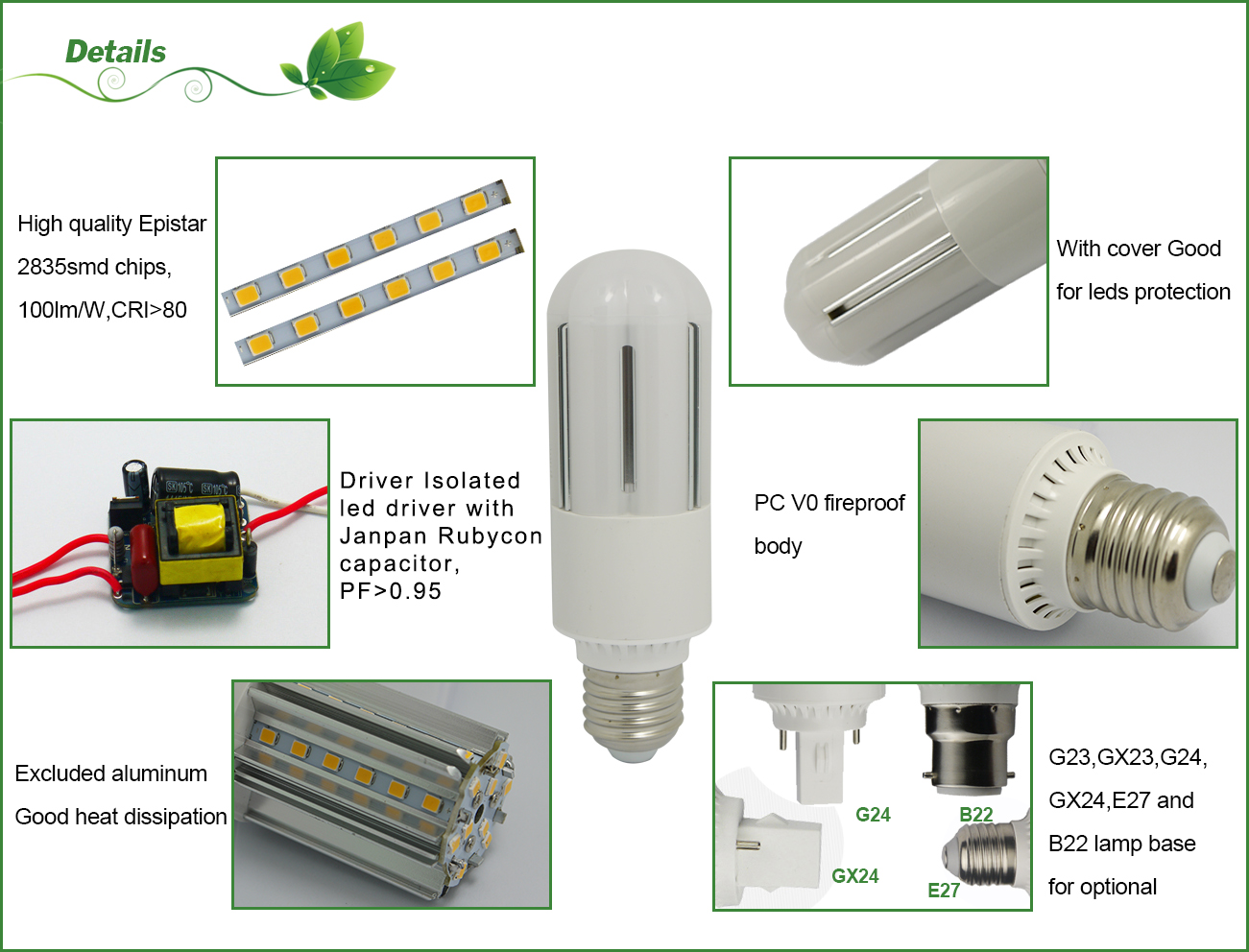 8w corn cob light