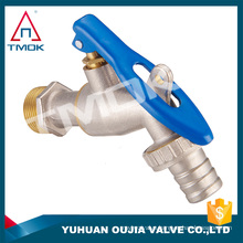 "1/2"" 3/4"" BSP thread one way flow water sanitary hose cock taps wall mounted brass bibcock with lockable in OUJIA VALVE"