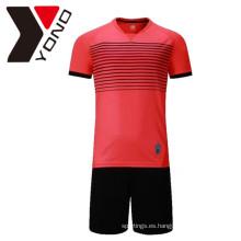 Venta al por mayor de la sublimación en blanco SoccerJersey fijó el jersey de fútbol de encargo