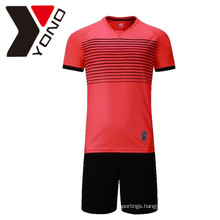 Wholesale Blank Sublimation SoccerJersey Set Custom Soccer Jersey