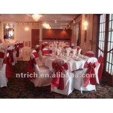 charmante couverture de chaise de polyester visa pour mariage et banquet