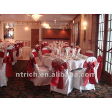 charming polyester visa chair cover for wedding and banquet