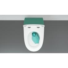 Toilette suspendue murale en céramique P-Trap sans rebord