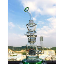 2016 Hot Selling Klein Recycler Vapor Oil Rig Hb-K26 Hitman Scientific Glass Water Pipe Birdcage Percolator Shower Head Glass Smoking Pipe Wholesale Enjoylife