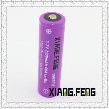 3.7V Xiangfeng 18650 2200mAh 40A Imr литиевая аккумуляторная батарея Производители Ниппель Buttom Top