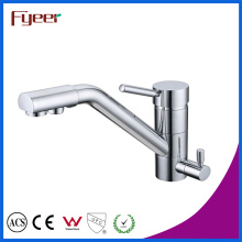 Fyeer Solid Brass 3 Way Chrome Plated kitchen Sink Faucet