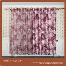Tela de lino barato casa de campo cortinas cortina impreso
