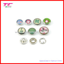 Colorful Pearl Cap Prong Snap Button for Leather Bracelet