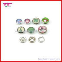 Colorful Pearl Cap Prong Snap botão para pulseira de couro