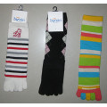 Colorful Five Toe Sock Knee Toe Sock Cotton Five Toe Socks