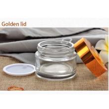 Kosmetisches Verpackungsglas mit Aluminiumkappe (NBG18)