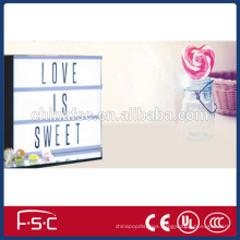 Free combination battery power led light box a3