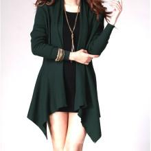 15PKCAS07 2016 fashion lady silk suéter de cashmere inverno cardigan